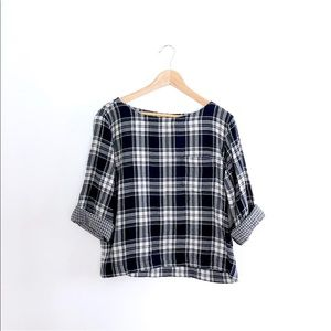 Madewell // Flannel Top
